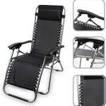 ransat jardin Todeco chaise longue inclinable, transat en textilène de jardin